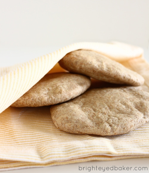 "... used to know it only by ""pocket bread""… Pita Bread! {Vegan"