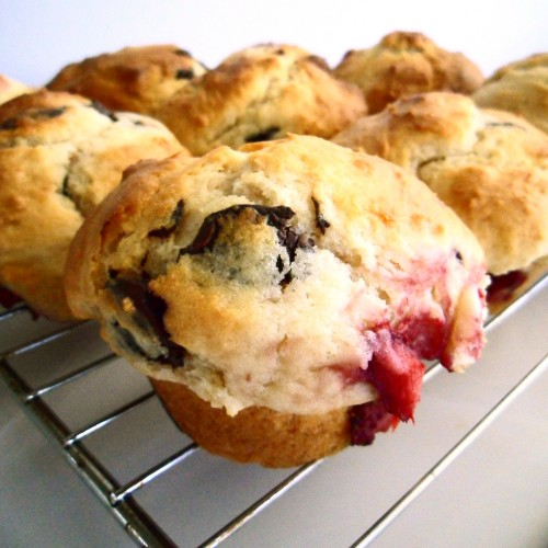 Post image for Confession #16: I like strawberries, but not so much plain… Chocolate Strawberry Muffins