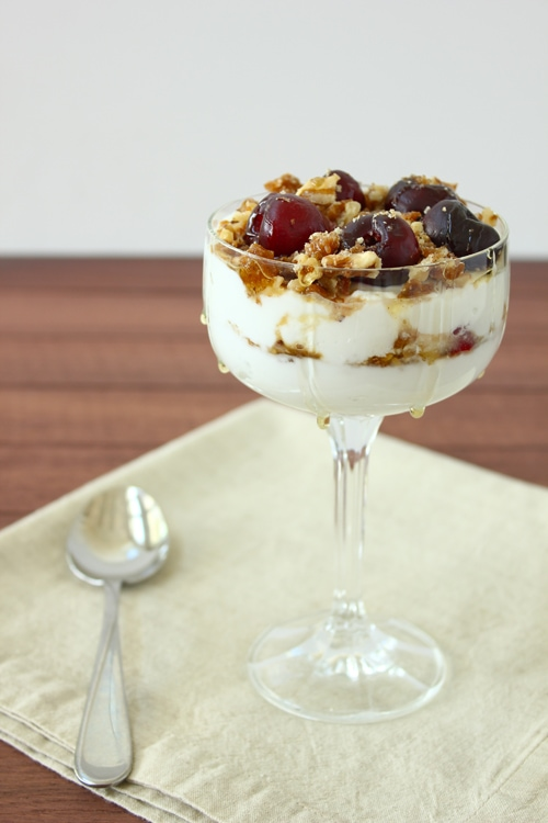 Post image for Confession #73: Sometimes it's Luck… Cherry, Walnut, and Honey Parfait