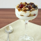 Cherry, Walnut, and Honey Parfait