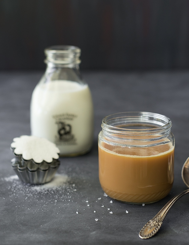 DIY Caramel Sauce - an incredible caramel sauce made WITHOUT CREAM, using only milk, sugar, and sea salt. {Plus tips for getting it right no matter what your kitchen skills are like!} | www.brighteyedbaker.com