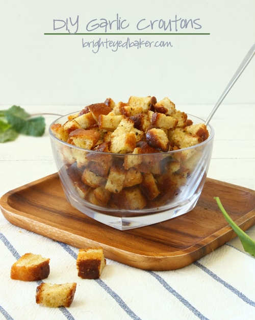 Post image for DIY Garlic Croutons {Vegan}
