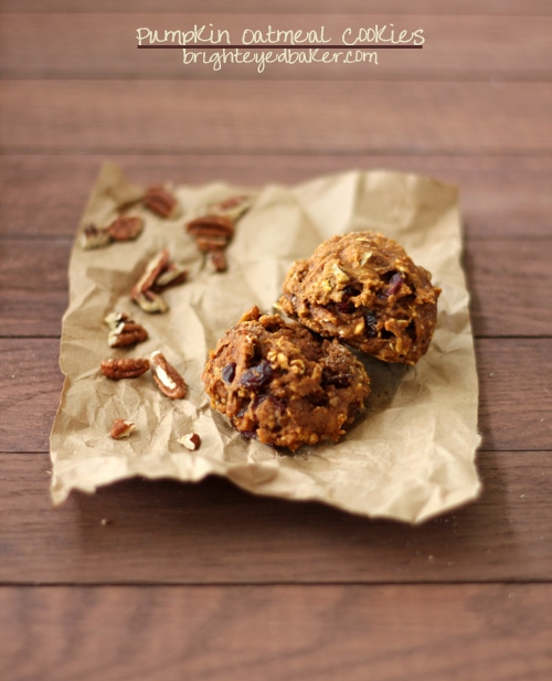 Post image for Confession #89: I'm on a pumpkin spree… Pumpkin Oatmeal Cookies {Dairy-Free}