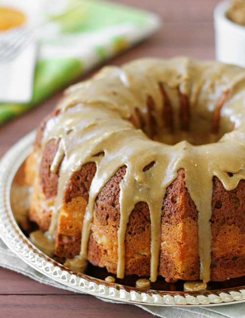 Pumpkin Cream Cheese Bundt Cake from Confessions of a Bright-Eyed ...