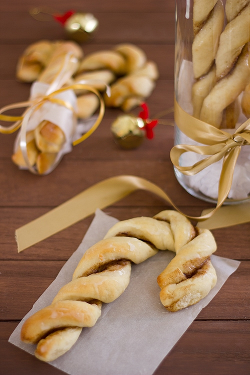 Cinnamon Sugar Candy Cane Twists from Confessions of a Bright-Eyed Baker