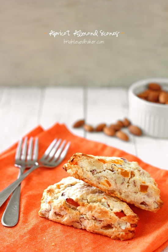 Apricot Almond Scones from Confessions of a Bright-Eyed Baker
