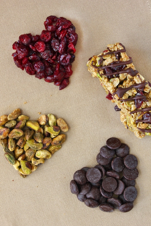 Chocolate-Drizzled Cranberry and Pistachio Bars