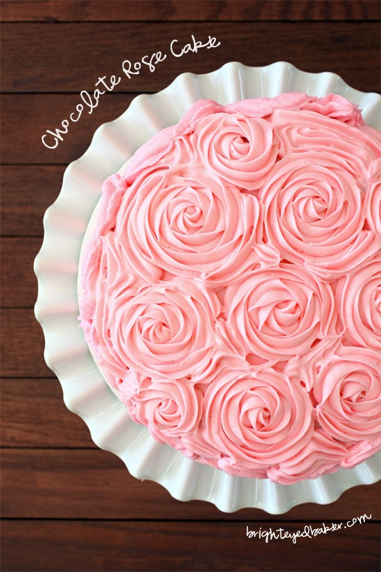 Chocolate Rose Cake from Confessions of a Bright-Eyed Baker