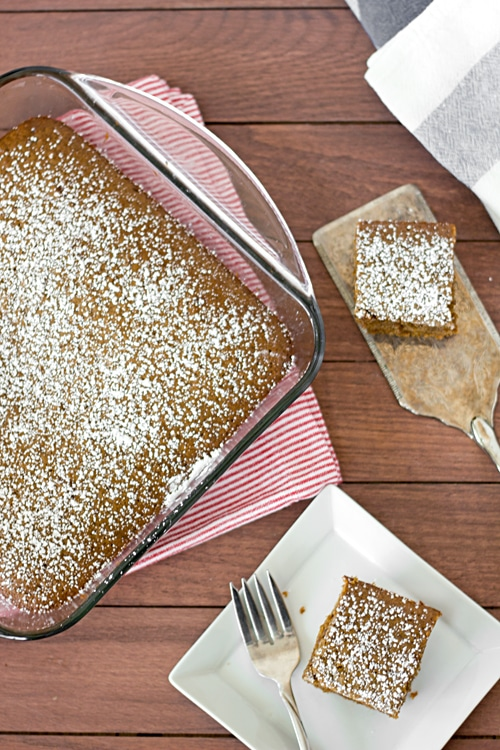 Molasses Bars with Graham Cracker Crust