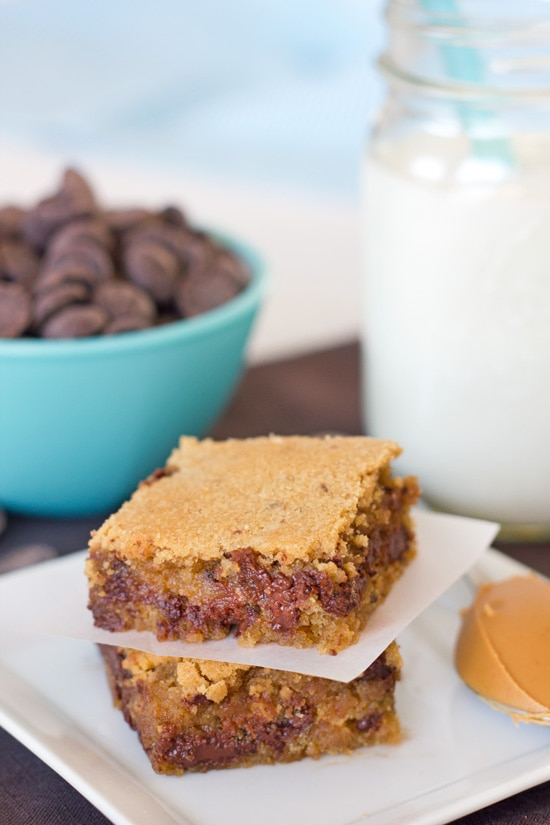 Post image for Peanut Butter Chocolate Chip Bars