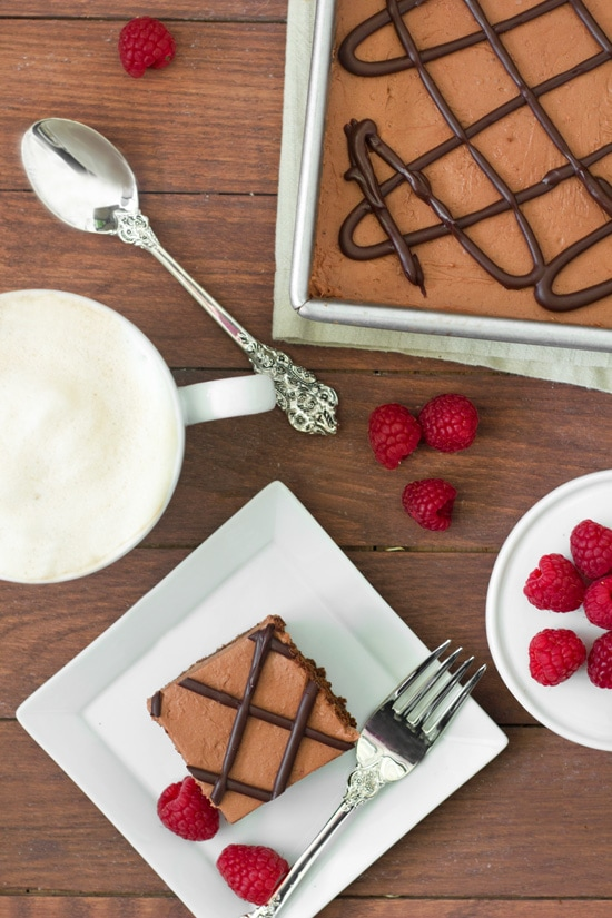 Raspberry Truffle Brownies from Confessions of a Bright-Eyed Baker