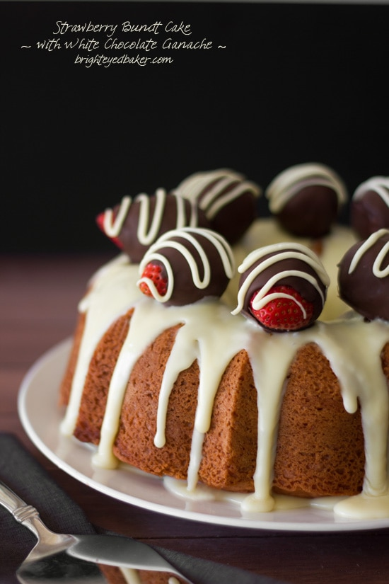 Post image for Confession #109: I Buy Too Much Chocolate… Strawberry Bundt Cake with White Chocolate Ganache