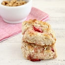 Strawberry Peanut Scones from Confessions of a Bright-Eyed Baker