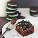 Mint Oreo Brownies