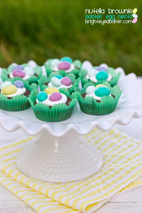 Nutella Brownie Easter Egg Nests from Confessions of a Bright-Eyed Baker
