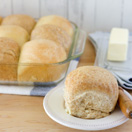 White and Whole Wheat Soft Dinner Rolls from Confessions of a Bright-Eyed Baker
