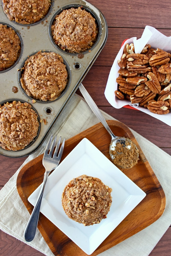 Brown Butter Pecan Muffins from Confessions of a Bright-Eyed Baker