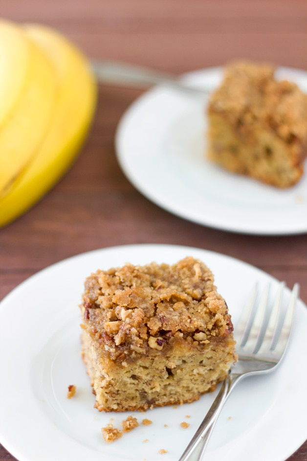 Maple Banana Coffee Cake | brighteyedbaker.com
