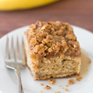 Maple Banana Coffee Cake | brighteyedbaker.com