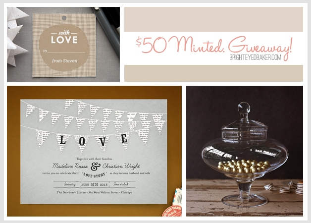 Minted Giveaway | brighteyedbaker.com