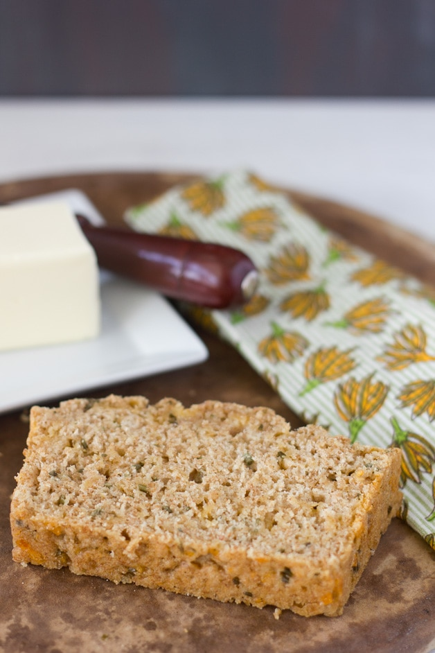 Cheese and Chives Beer Bread | brighteyedbaker.com