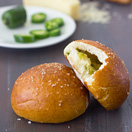 Cheese and Jalapeño Stuffed Pretzel Rolls
