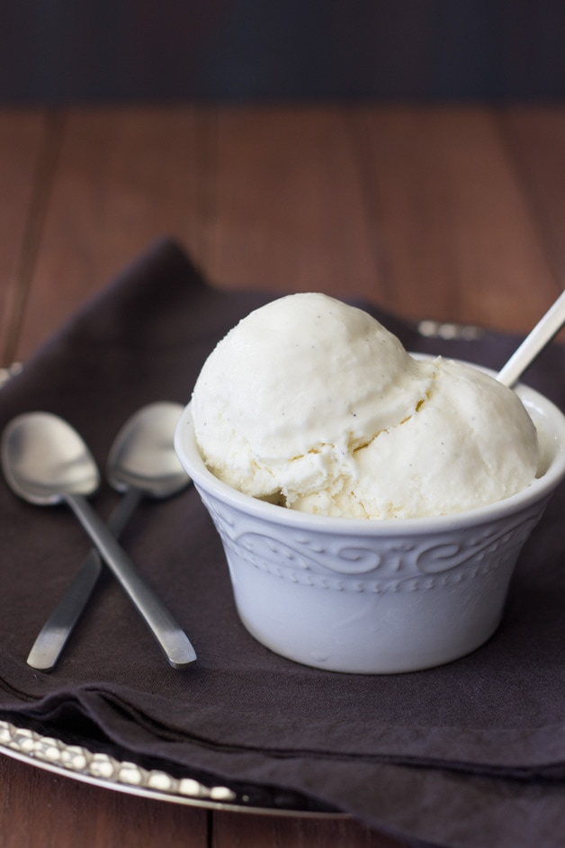 Vanilla Bean Ice Cream | brighteyedbaker.com
