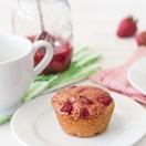Healthy Maple Roasted Strawberry Muffins   brighteyedbaker.com