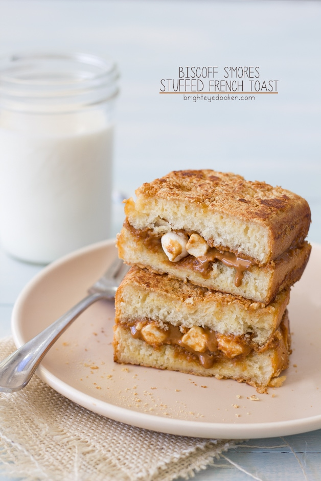 Biscoff S'mores Stuffed French Toast | brighteyedbaker.com