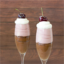 Cherry Neapolitan Mousse | brighteyedbaker.com