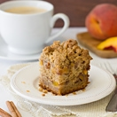 Peach Coffee Cake with Brown Sugar-Cinnamon Streusel | brighteyedbaker.com