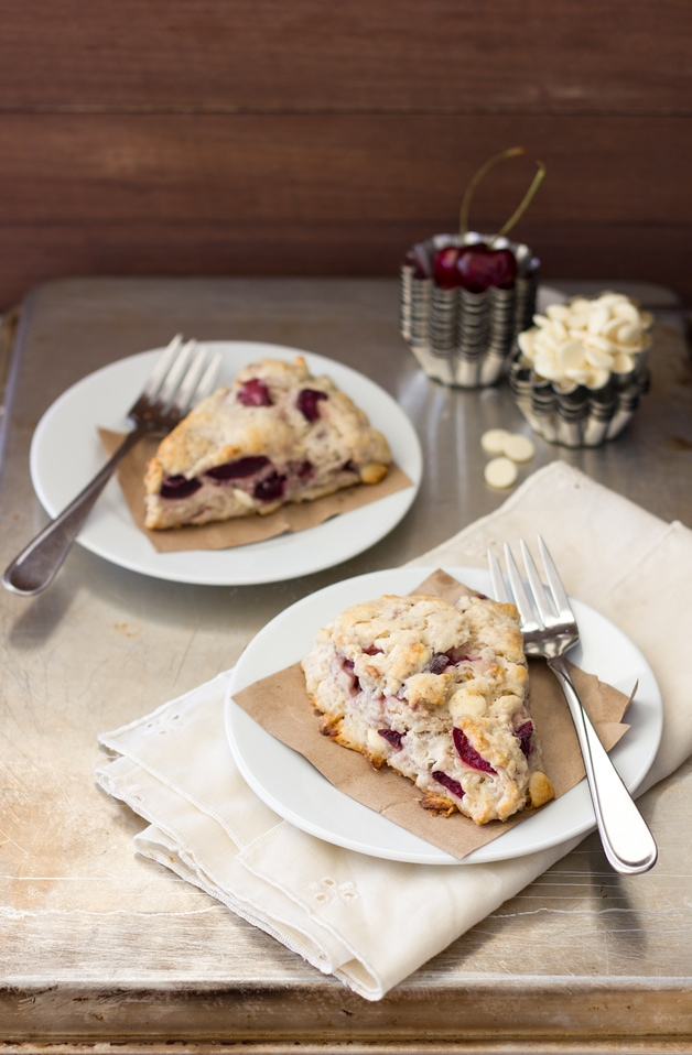 10 Pound Cherry Challenge: White Chocolate Cherry Scones
