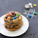 Soft-Baked M&M's Chocolate Chip Cookies - Super-soft, chewy cookies filled with colorful M&M's and chunks of chocolate. From @bright-eyedbaker | brighteyedbaker.com
