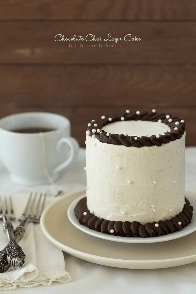 Chocolate Chai Cake with Chai-Infused Chocolate Ganache and Chair Whipped Cream | Confessions of a Bri
