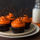 Confession # 137: I have an excuse… Pumpkin Chocolate Spiderweb Cupcake