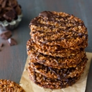 Dark Chocolate Almond Florentine Cookies