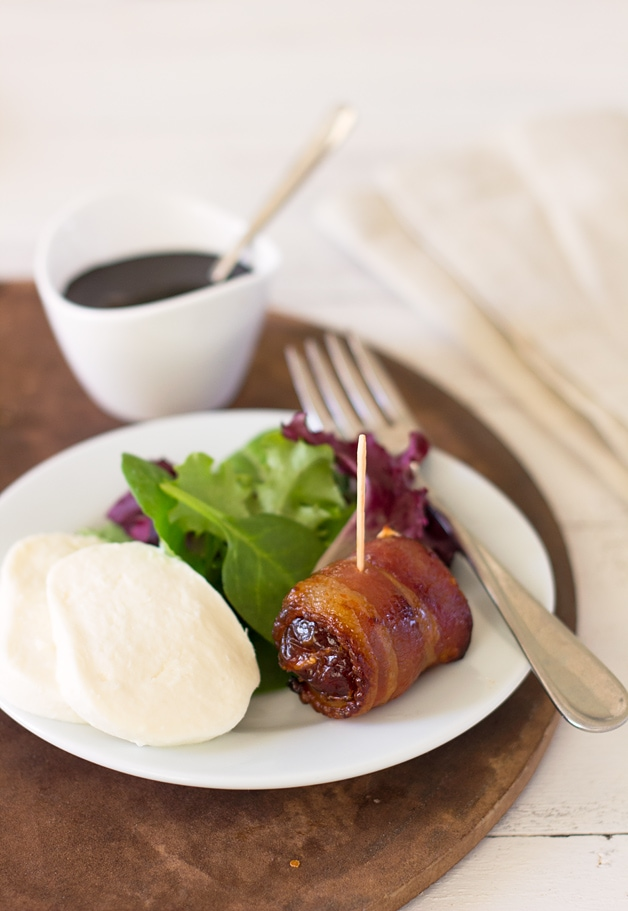 Bacon-Wrapped Dates with Balsamic Reduction - sweet, rich and tender ...