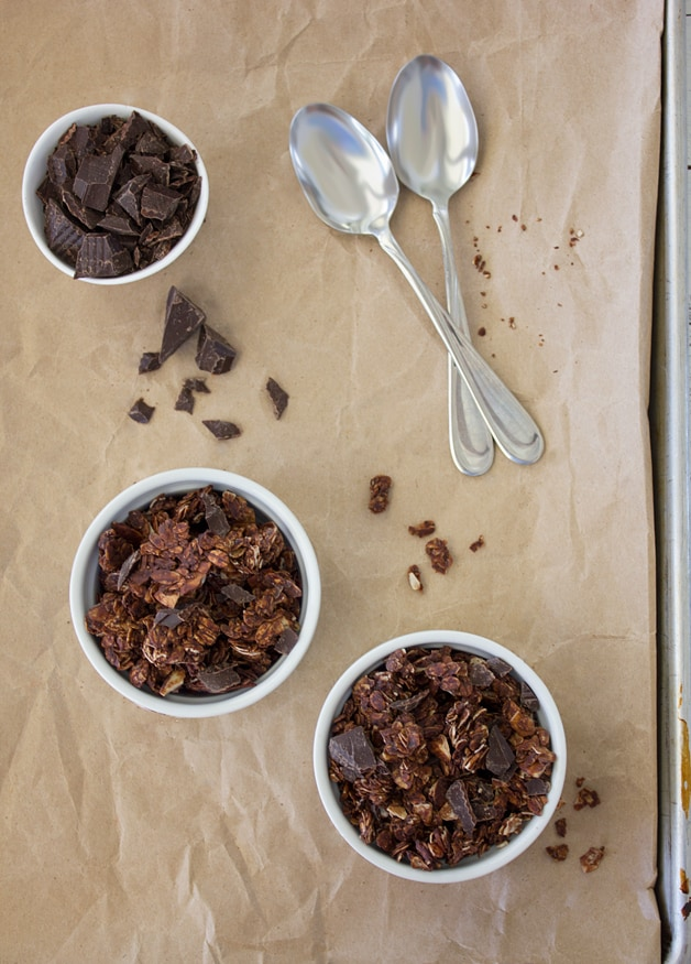 ... chocolate in my breakfast… Double-Chocolate, Almond, and Coconut