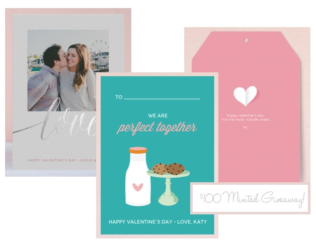 $100 Minted. Valentine's Day Giveaway for designer #valentinesday cards from @minted | www.brighteyedbaker.com