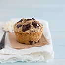 Healthy Banana Coconut Chocolate Chunk Muffins {GF, Dairy-Free Option, No Added Sugar} - tender and chocolate-filled muffins that are naturally sweetened with roasted bananas and coconut flakes. | www.brighteyedbaker.com