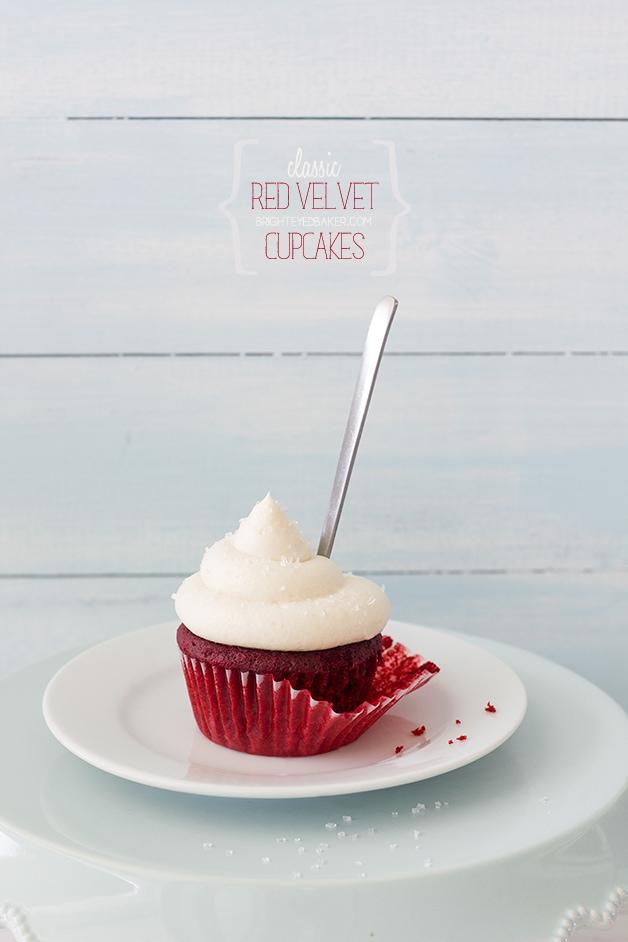 Classic Red Velvet Cupcakes - the only red velvet recipe you need!| brighteyedbaker.com