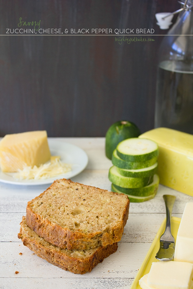Savory Zucchini, Cheese, and Black Pepper Quick Bread {with Pesto ...