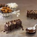 Healthy No-Bake Chocolate, Almond, & Coconut Bars - a satisfying breakfast or snack that puts Almond Joys to shame. {GF, Vegan} | www.brighteyedbaker.com