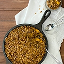 Skillet Peach Pie Crumble