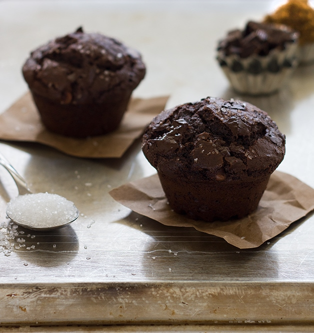 Chocolate Cake Mix Muffins