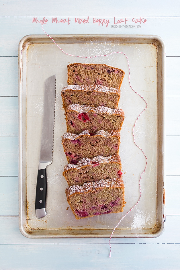 Whole Wheat Mixed Berry Loaf Cake - a light, tender, vanilla-flecked ...