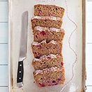 Whole Wheat Mixed Berry Loaf Cake