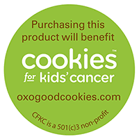 Look for OXO products marked with this sticker to help raise money for Cookies for Kid's Cancer #OXOGoodCookies