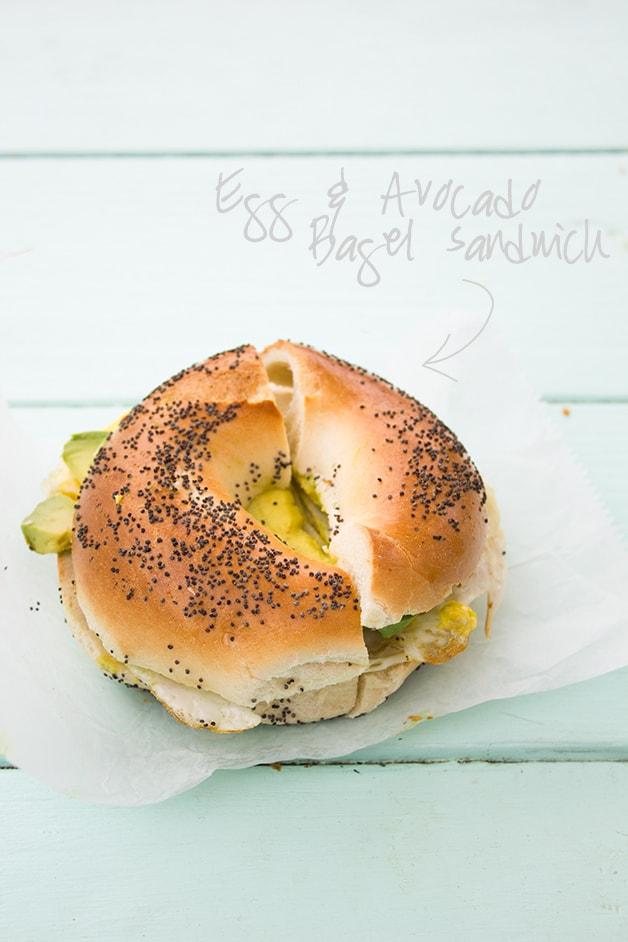 Food & Travels: New York | Egg & Avocado Bagel Sandwich @ Montauk Bake Shoppe | www.brighteyedbaker.com