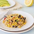 Healthy Southwestern Quinoa - a quick and easy dish packed with veggies that's anything but boring!| www.brighteyedbaker.com